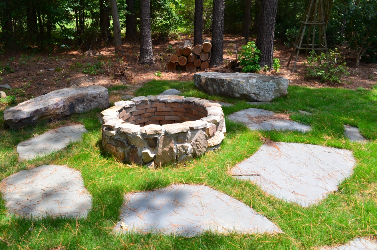 Fire Brick On The Inside And A Natural Tennessee Field Stone For Veneer